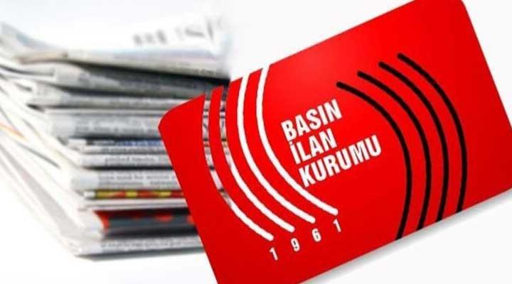 Basın İlan Kurumu'ndan gazetelere 'ortak manşet' çağrısı
