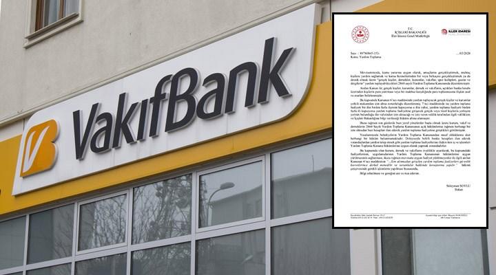 Vakıfbank, İstanbul ve Ankara Büyükşehir'in bağış hesaplarını bloke etti!