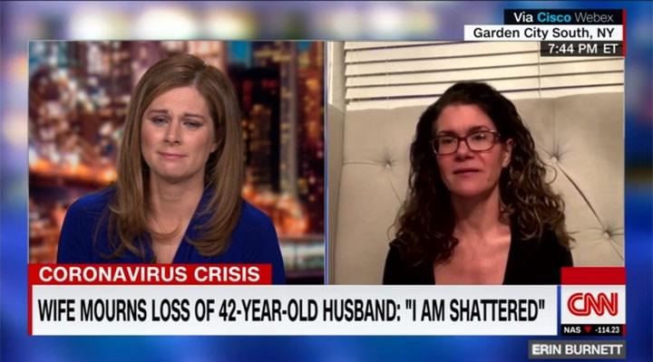 Koronavirüs salgınında eşini kaybeden kadının hikâyesi spikeri böyle ağlattı