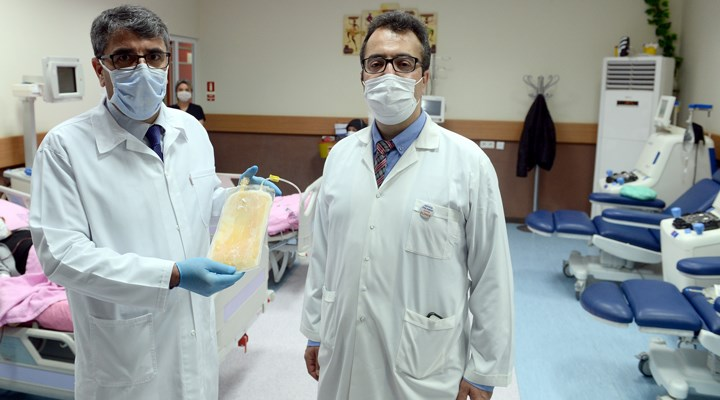 Koronavirüse karşı Türkiye'deki ilk plazma tedavisi başladı