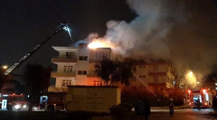 Samsun'da yangın cep telefonlarıyla kaydediledi