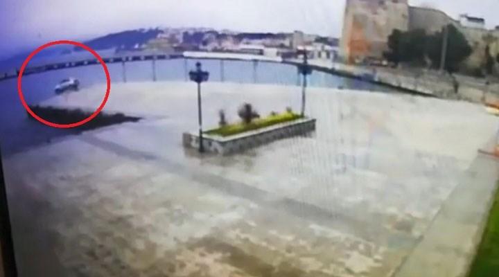 Sinop'ta bir araba denize uçtu