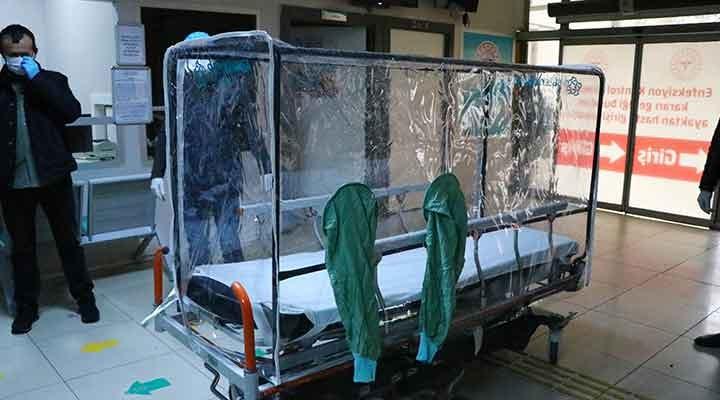 Tekirdağ'da izolasyonlu sedye kabinleri kullanılmaya başlandı