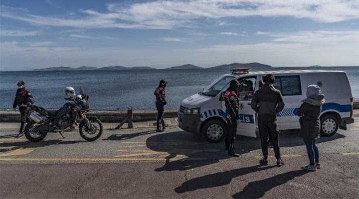 Caddebostan Sahili'nde yürüyüş yapanlara para cezası