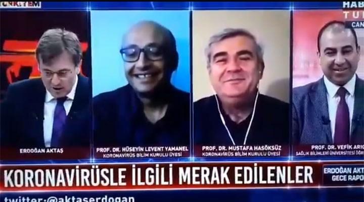Bilim Kurulu üyelerinden canlı yayında gülümseten Beşiktaş sohbeti