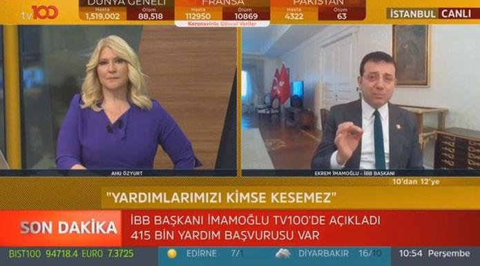İmamoğlu: İstanbul'a en az 2 hafta sokağa çıkma yasağı gerekli