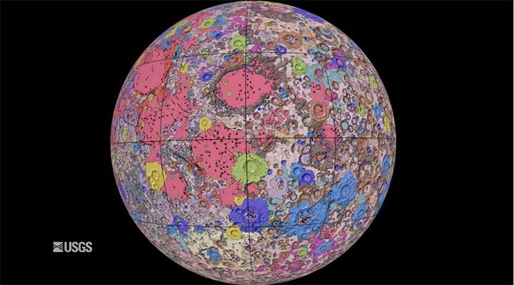 Ay'ın haritası ilk kez çıkarıldı