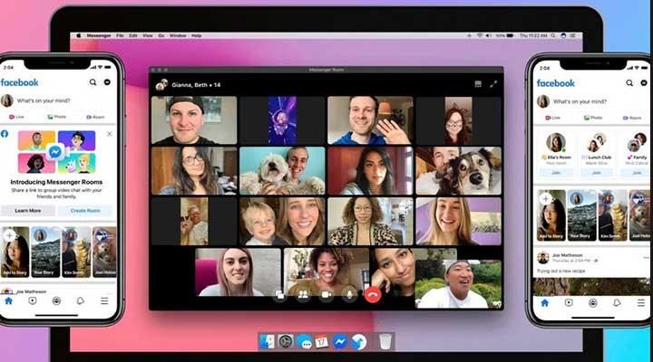 Facebook Messenger Rooms ile 50 kişi video konferans yapabilecek