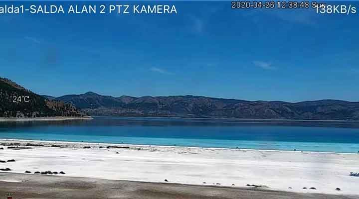 Bakanlık, Salda Gölü'nde 24 saat canlı yayın yapılacağını açıkladı