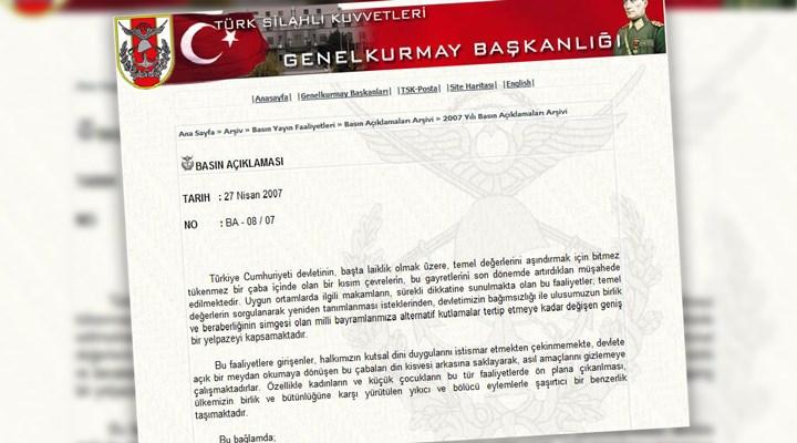 '27 Nisan e-muhtırası'nın yıldönümü: 'Tarihin karanlık sayfaları'nda neler oldu?
