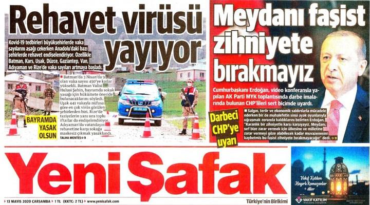 Yandaş gazete, Anadolu'da virüs vakalarının alarm verdiğini yazdı