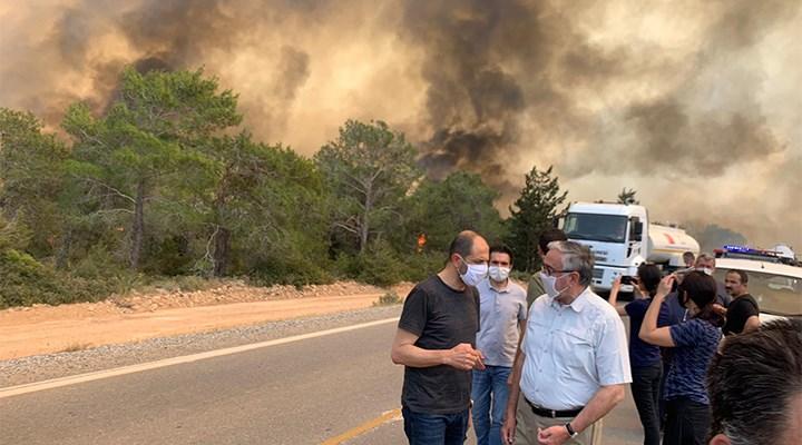 Kuzey Kıbrıs'ta büyük yangın