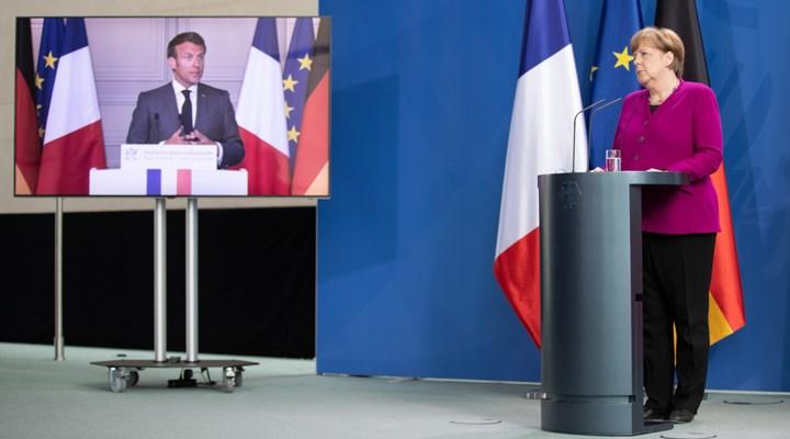 Macron ve Merkel'den 500 milyar Euroluk fon önerisi