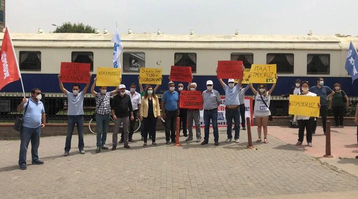TCDD'de 84 işçinin sürgün edilmesi protesto edildi