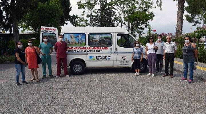 Fethiye'de Hayvan Ambulansı hizmete açıldı