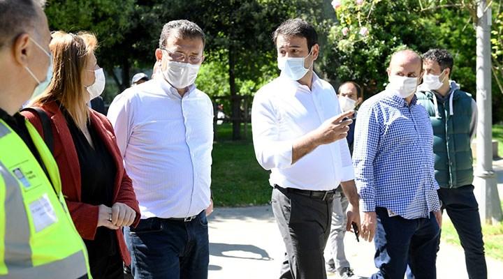 Ekrem İmamoğlu, Beşiktaş Belediye Başkanı Akpolat ile incelemelerde bulundu