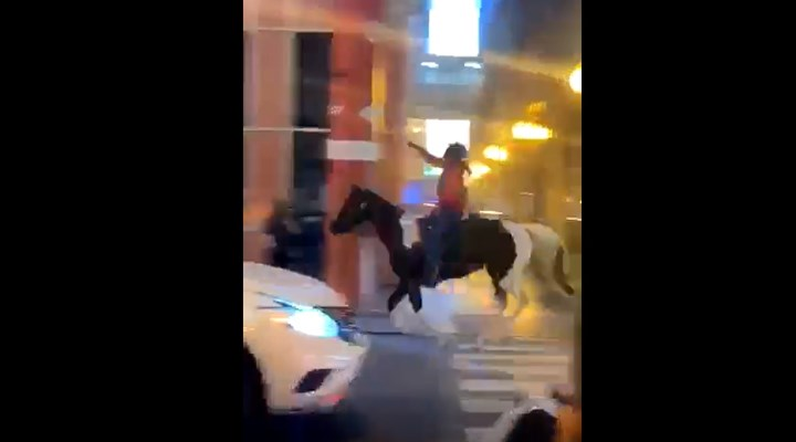 ABD'de bir eylemcinin polisin atını ele geçirdiği iddiası gerçek dışı çıktı
