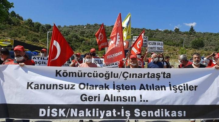 Milas'ta nakliyat işçilerinin direnişi 17'nci gününde