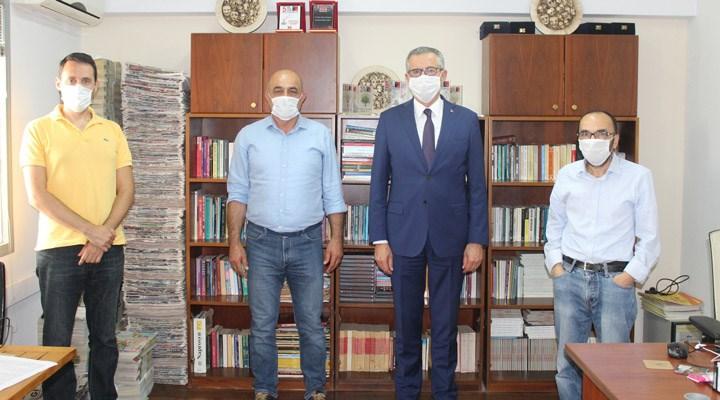 Gaziemir Belediye Başkanı Halil Arda'dan gazetemizin Ege Bürosu'na ziyaret