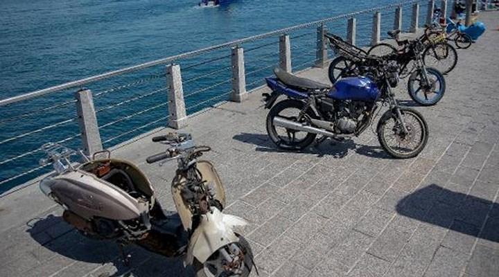 İstanbu Boğazı'ndan çıkarılan motosikletler sergilendi
