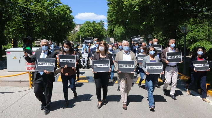 Meclis'ten Kızılay'a yürüyen HDP'li vekillere polis müdahalesi