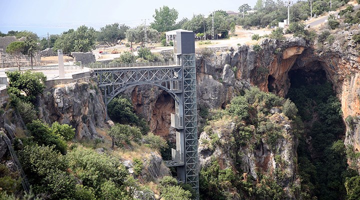 Cennet Obruğu'na asansör inşa ettiler