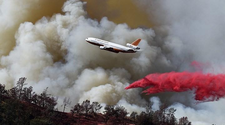 874 yangında uçak kullanılmamış