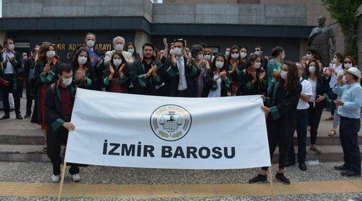 Ankara'da baro başkanlarının engellenmesi adliye önlerinde protesto ediliyor