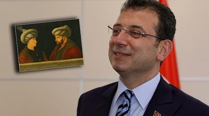 İmamoğlu'ndan Fatih Sultan Mehmet tablosu eleştirilerine yanıt