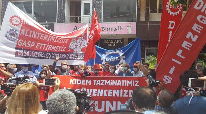Emekçiler ülkenin dört bir yanında tek ses: Kıdem tazminatımızı gasp ettirmeyeceğiz!