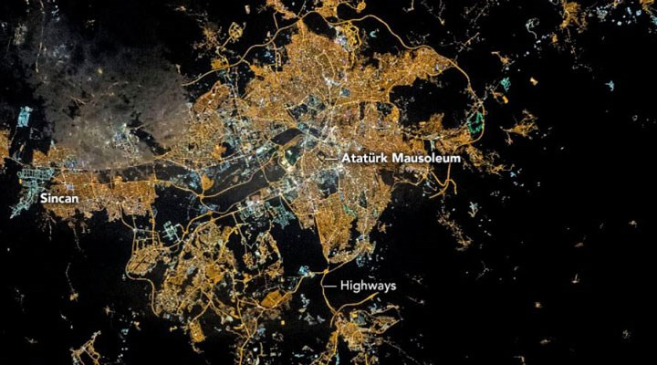 "NASA'dan ""Ankara'da Gece"" fotoğrafı"