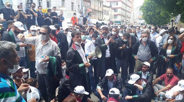 Avukatların yürüyüşüne polis müdahalesi