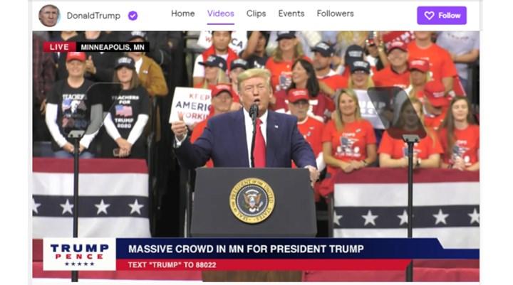 Twitch, Trump'ın hesabını 'nefret söyleminden' askıya aldı