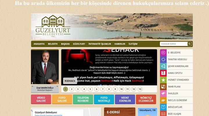 RedHack, AKP'li belediyelerin sitelerini hackledi