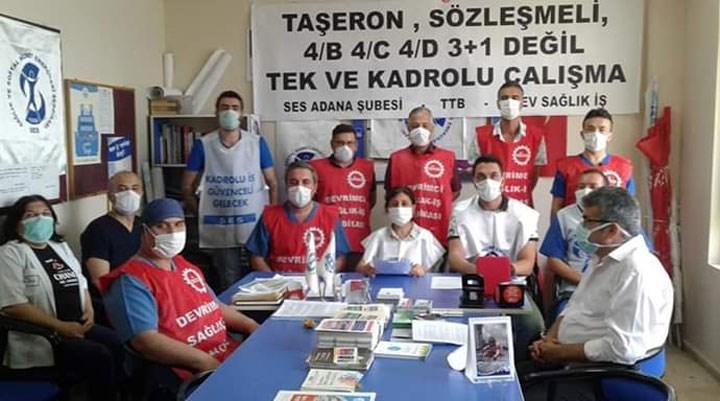 """SES Adana Şubesi'nden """"Herkese güvenceli iş, güvenli gelecek"""" talebi"""
