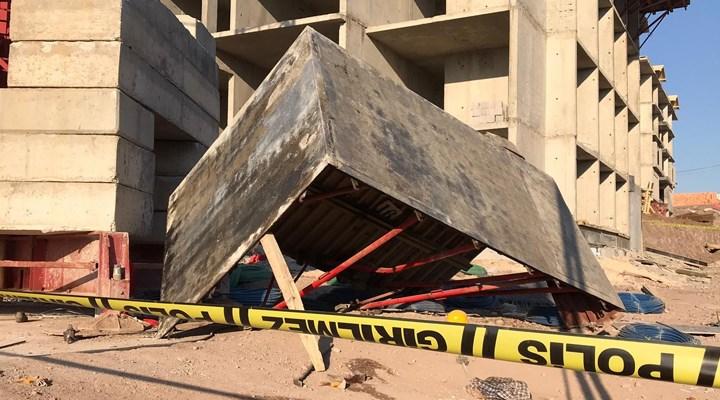 Elazığ'da inşaat iskelesi çöktü, 5 işçi yaralandı