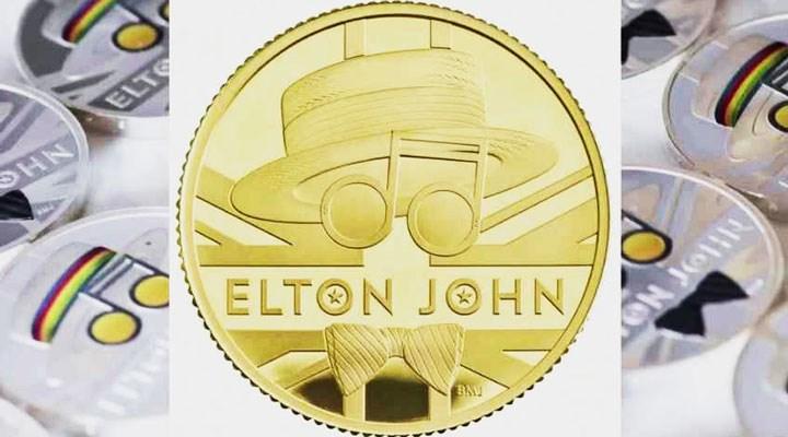 İngiltere Kraliyet Darphanesi, Elton John adına hatıra parası bastı