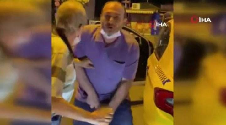 Taksici, kendisine tepki gösteren kişiye cinsel organını gösterip küfür yağdırdı!