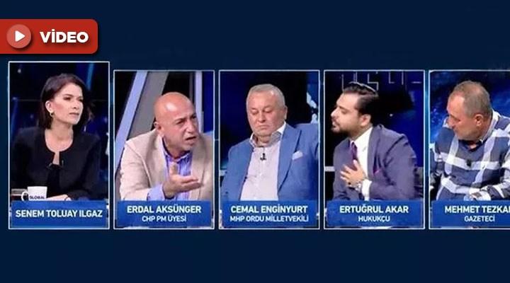 İnce'nin ardından CHP'li Aksünger de Haber Global canlı yayınını terk etti