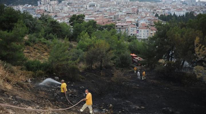 Balçova'daki yangın söndürüldü