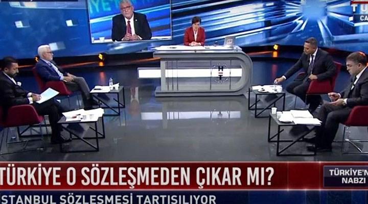 Habertürk'te erkekler oturdu İstanbul Sözleşmesi'ni tartıştı