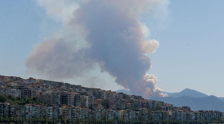 Balçova'daki orman yangını kısmen kontrol altına alındı