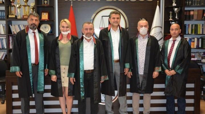 73 barodan Hatay Barosu Başkanı Ekrem Dönmez'e destek