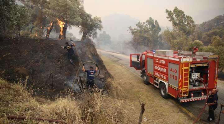 """Aydın'da orman yangını: """"Söndürmek için canla başla mücadele ediliyor"""""""