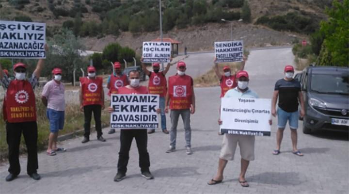 Milas'ta direnen nakliyat işçileri: Ekmek kavgamız devam ediyor