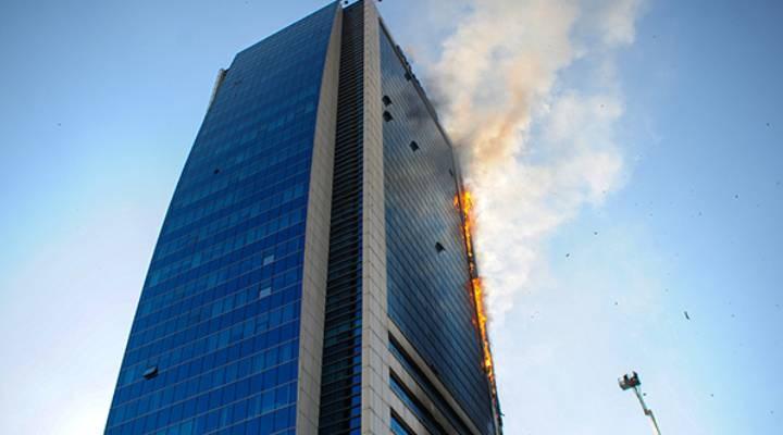 """Ankara'da bir iş merkezinde çıkan yangında """"sigara"""" şüphesi"""