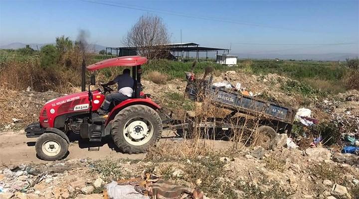 AKP'li belediye, çöpleri ilçe girişine döktü