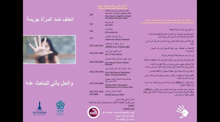 Şiddete maruz bırakılan mülteci ve göçmen kadınlar için Arapça broşür hazırlandı