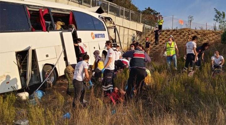 İstanbul'da Metro'nun yolcu otobüsü yoldan çıktı: 5 ölü