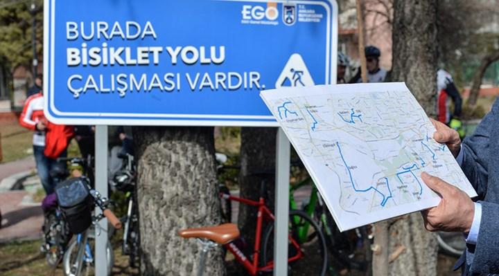 """Ankara Büyükşehir Belediyesi'nin """"Bisiklet Yolu Projesi"""" için test sürüşleri başladı"""